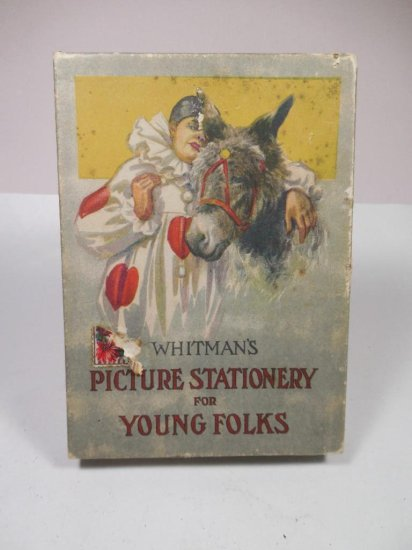 Unusual Antique Whitman's Stationery Set In Box W/lithography
