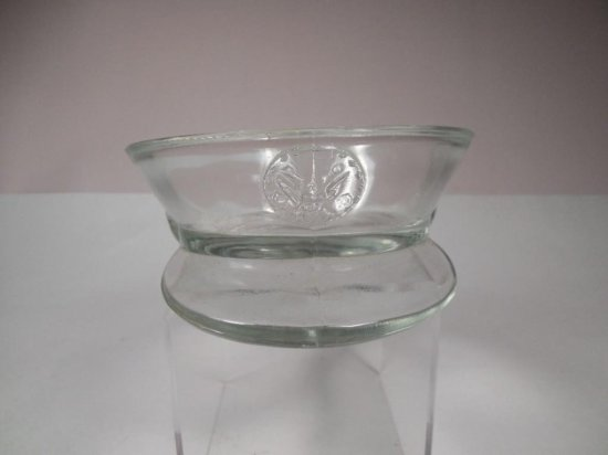 Glass Military Hat Candy Dish