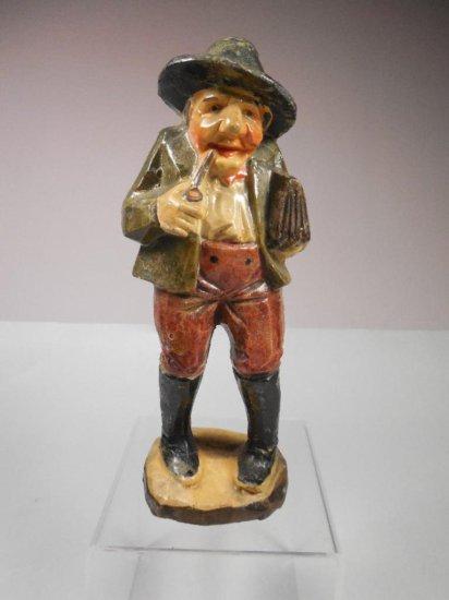 Vintage Ceramic Standing Figurine Smoking Pipe