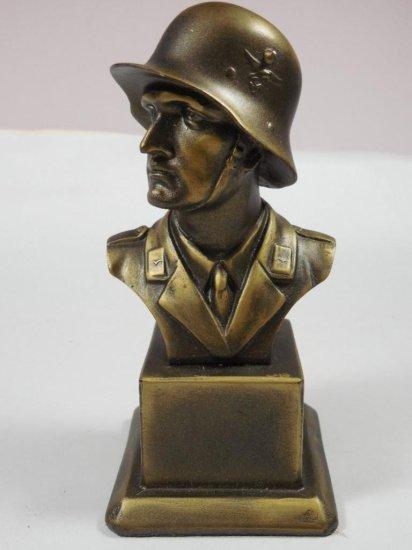 Nazi German Waffen Army Soldier Desk Statue Paperweight
