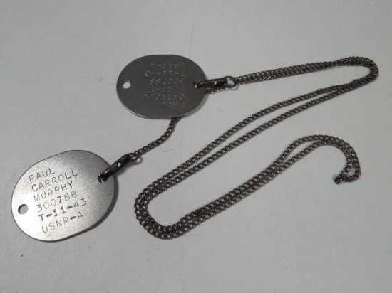 Wwii Military Dog Tags On Chain