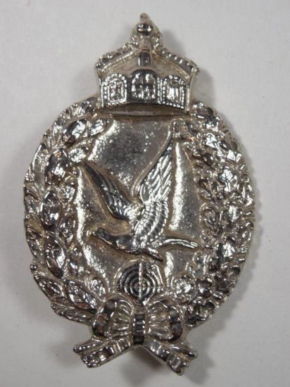 Unusual Shiny Chromed Medal Berlin Germany Eagle And Crown