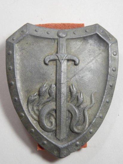 Nazi German Tinnie Shield Sword And Nakes