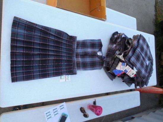 Group Lot Of Girl's School Uniforms - Plaid