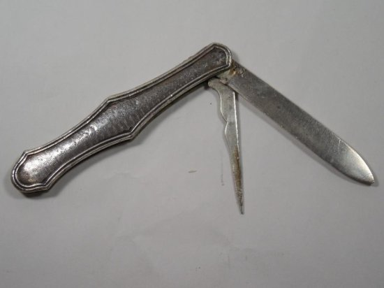 Nice Antique Early Coin Silver Fruit Knife