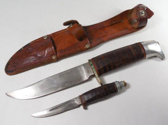 Nice Buffalo Brand Ruko Solingen German Double Knife Set in Sheath