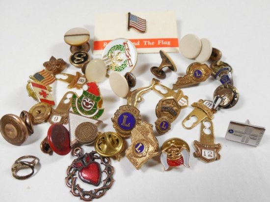 Jewelry Group Lot including fraternal, Lions Club Etc