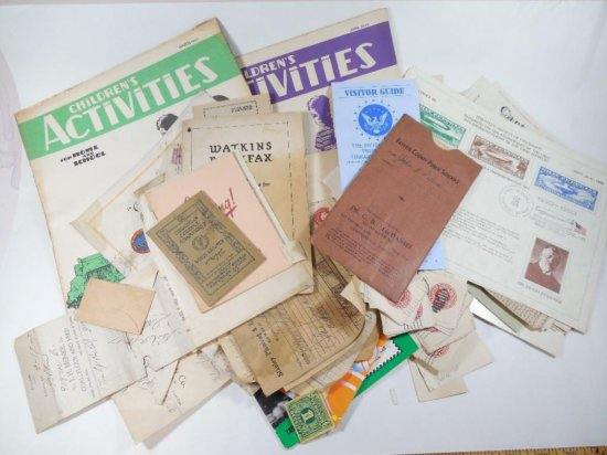 Large group lot of assorted paper and ephemera