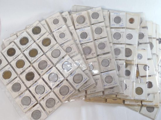 Huge Group lot of Sheets of Foreign Coins
