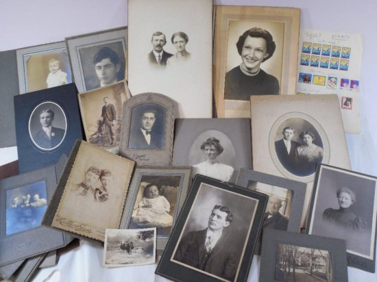 Large group lot of antique photographs