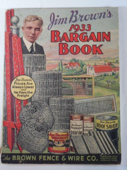Unusual Jim Brown's 1933 Bargain Book Nice Graphics