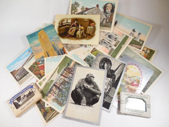 Large lot of vintage postcards and paper inc. Civil War