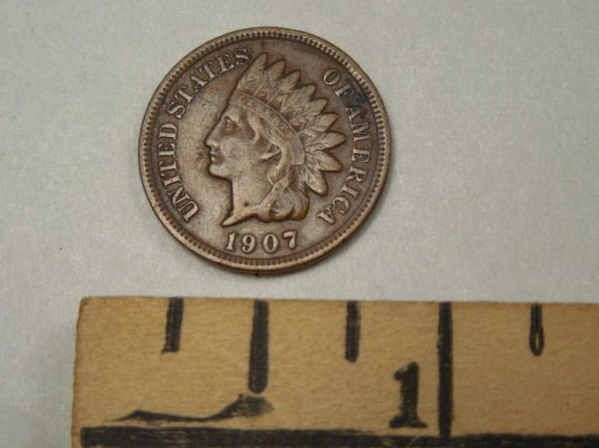 1907 Indian Head Penny In Great Condition