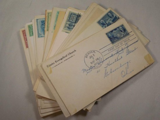 Large Lot Of Stamped First-day Covers