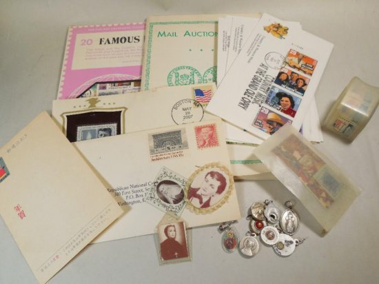 Large Group Lot Assorted Stamps Etc.