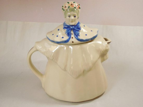 Vintage Ceramic Lady Tea Pot