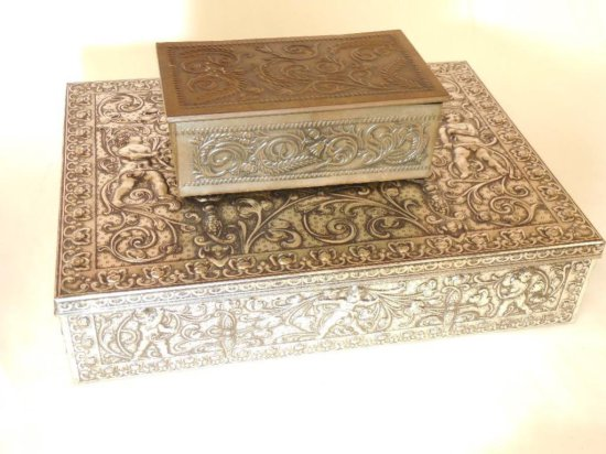 Two Vintage Metal Boxes