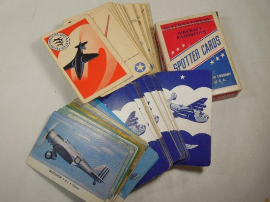 Group Lot Of Wwii Airplane Spotter Identification Cards