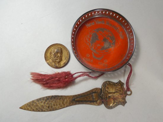 Group Lot Of 3 World's Fair Items - 1934-1964