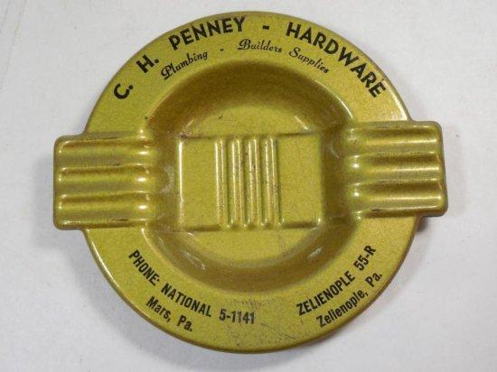 2 Vintage Zelienople Pennsylvania Hardware Ashtrays