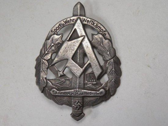 Metal Nazi German Wwii Military Sport Pin Or Medal