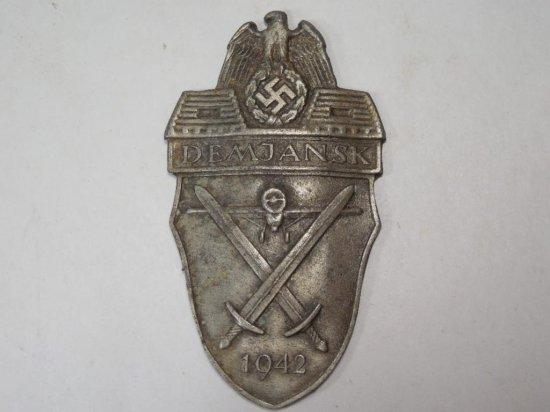 Rare Wwii German Demjansk Pocket Campaign Medal 1942