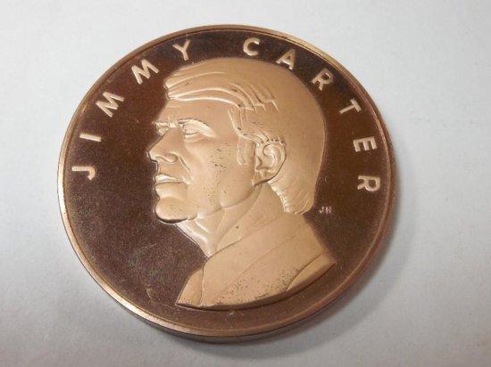 Vintage Bronze Jimmy Carter Proof Metal