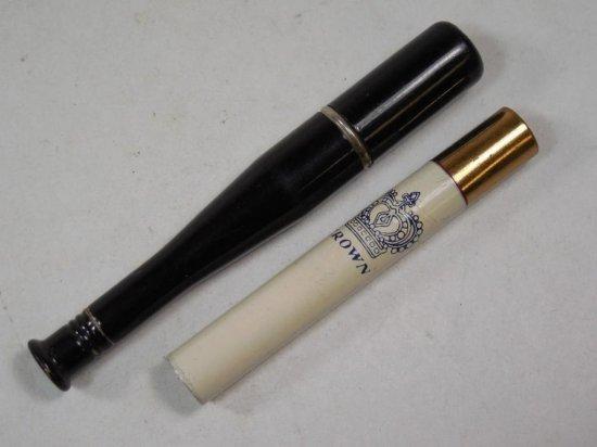 2 Unusual Antique Lighters Inc. Baseball Bat, Crown