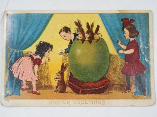Antique Easter Greetings Postcard