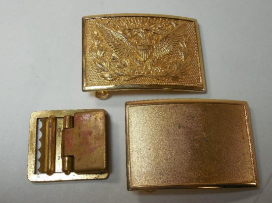 Group Lot Of 3 Belt Buckles Inc. Civil War Repro Federal Style