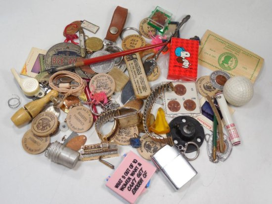 Large Misc. Antique Dealer Lot Inc. Old Watch, Band, Other Items