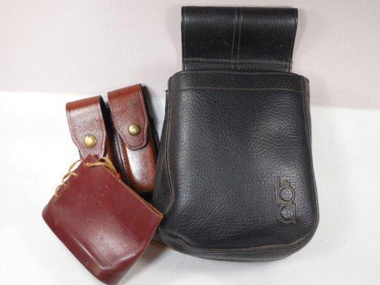 Vintage Shooting Lot Inc. Range Bag, Leather Ammo Holder, Butt Pad Etc