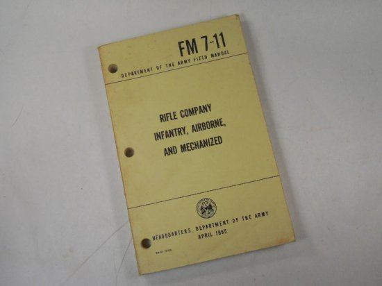 1965 Dept Of Army Vietnam War Rifle, Infantry, Airborne Manual