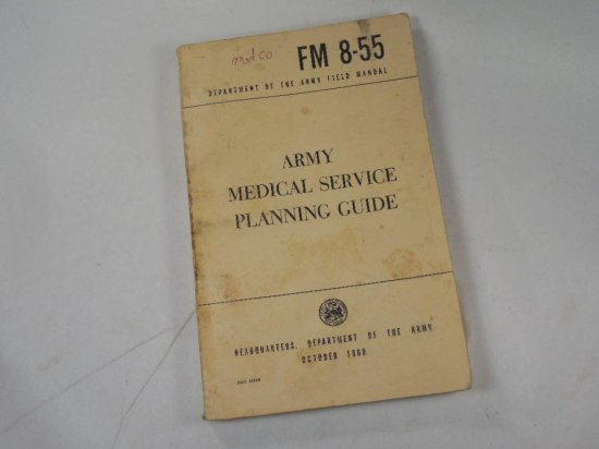 Military Manual Dept Of The Army 1960 Medical Service Planning
