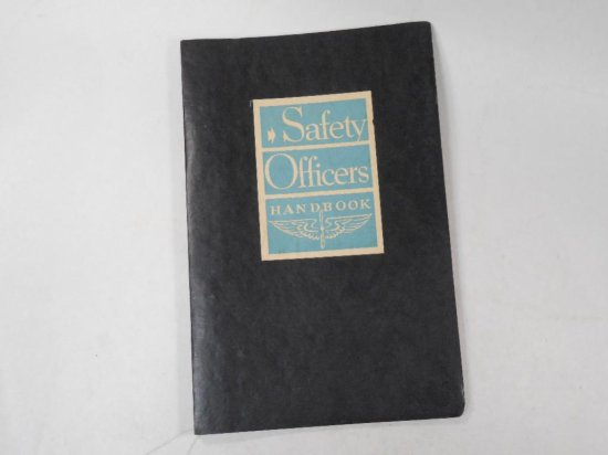Old Military Safety Officer's Handbook Air Force