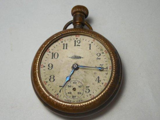 Antique Leonard Pocket Watch In Gold Filled Case