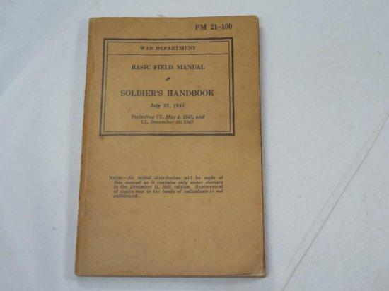 1941 Basic Field Manual Soldier's Handbook Wwii