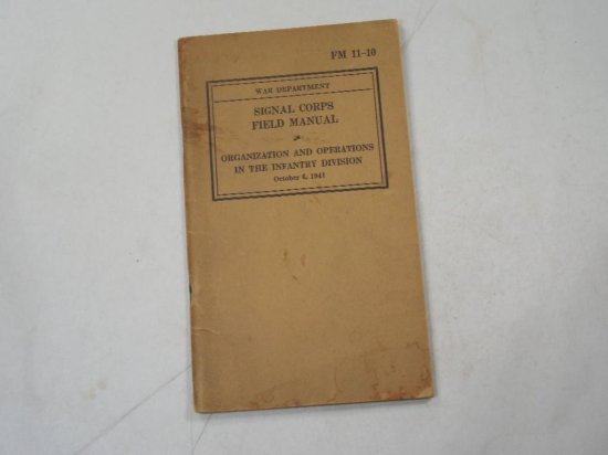 Wwii Signal Corps Field Manual Book 1941 Military