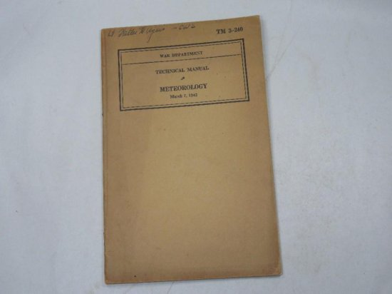 Wwii Technical Manual Meteorology Military 1942