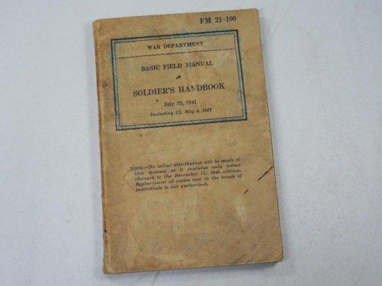 Wwii Soldier's Handbook Basic Field Manual 1941