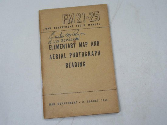 Elementary Map And Aerial Photograph Reading Wwii Military