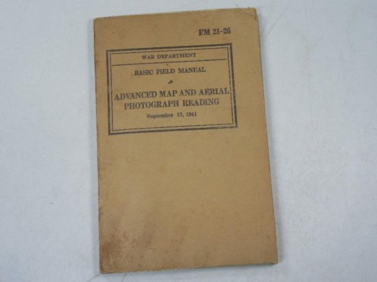 Advance Map And Aerial Photograph Reading 1941 Military Manual