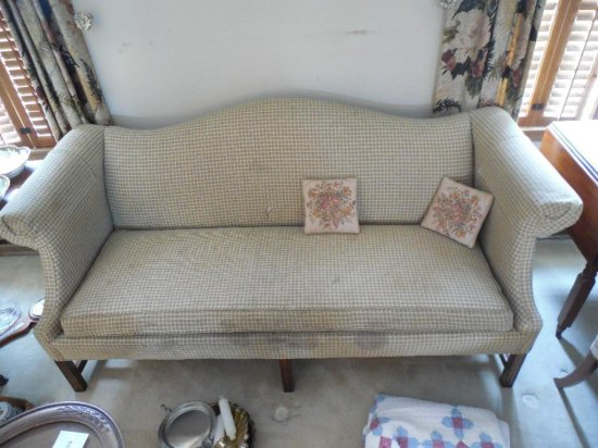 Large Vintage Upholstered Sofa Couch