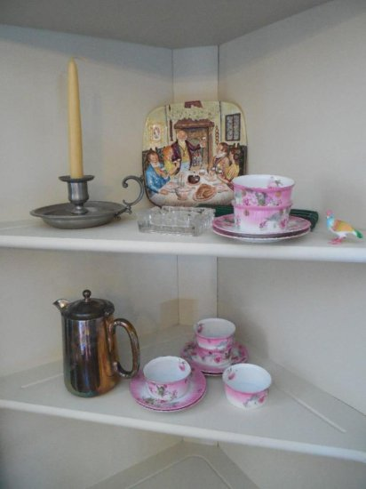 Group Lot Of Vintage Items Inc. Pewter, Silver Plate