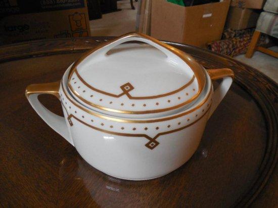 Unusual Dontatello Art Deco China Covered Dish
