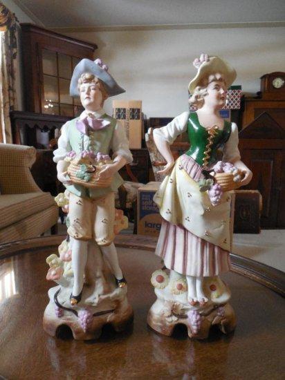 Two Antique East German Ceramic Figures