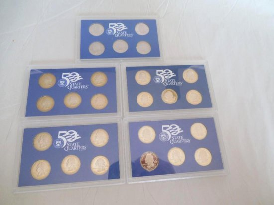 Group Lot Of 5 State Quarter Mint Sets