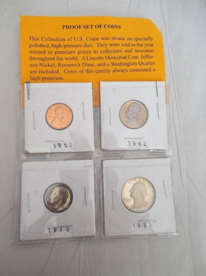 Proof Grouping Of Four Coins