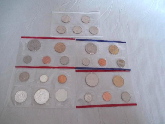 Group Lot Of 5 Vintage Mint Coin Sets
