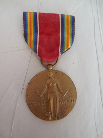 Wwii Military Medal On Ribbon